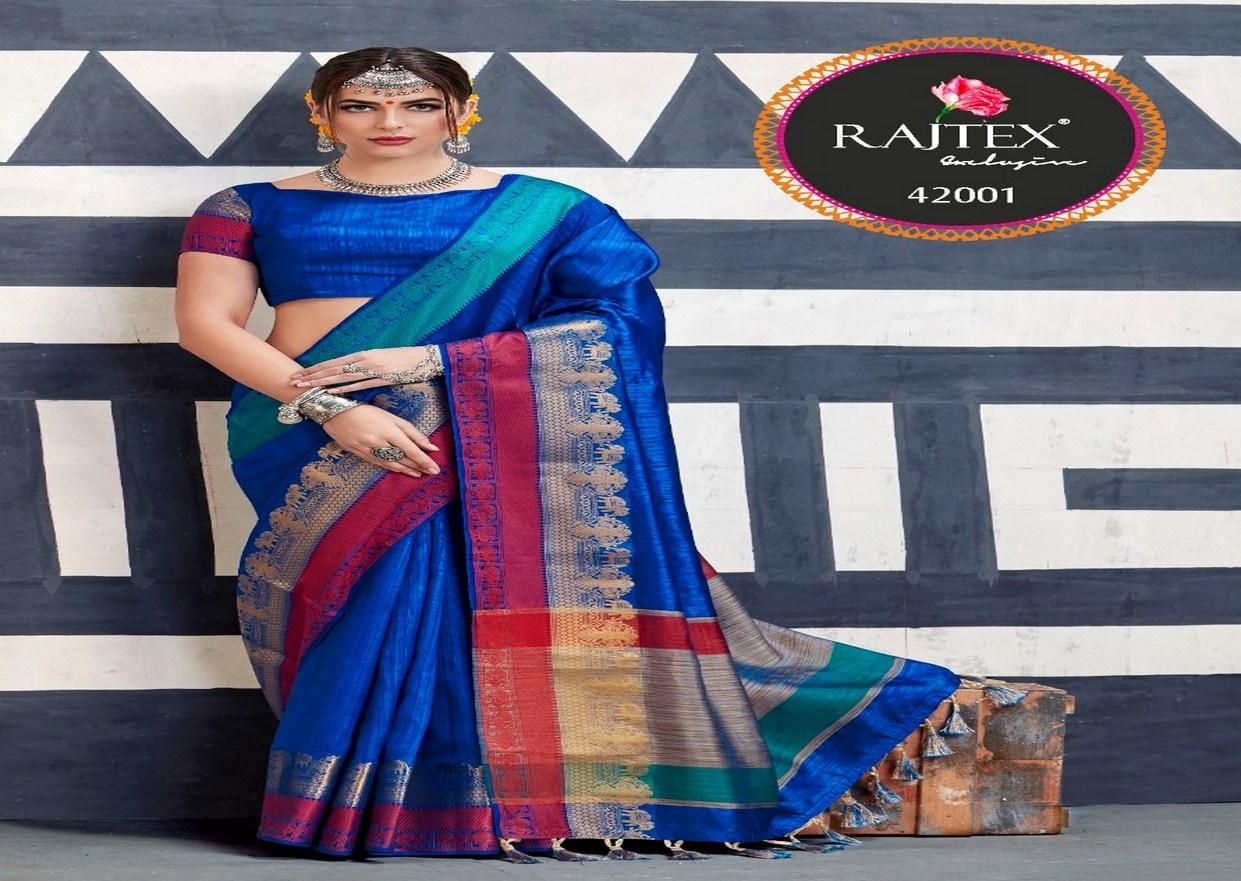 Rajtex Kaleera silk nylon silk saree